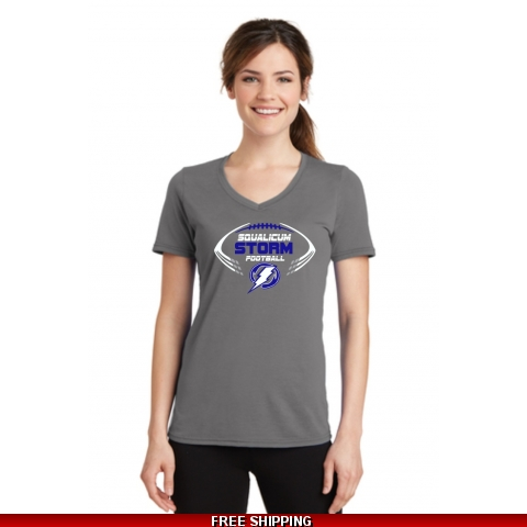 Storm Football Women's V Neck T