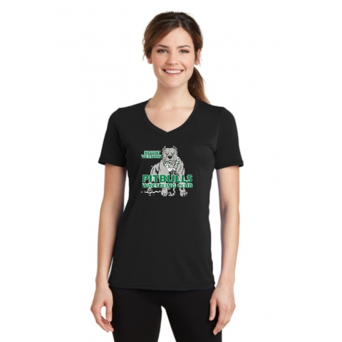 Pitbulls Womens V Neck Performance Blend Tee