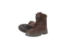 Brown Patrol Boots 1/2 Leather