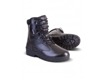 Black All Leather Patrol Boots