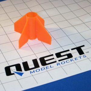 20mm Plastic Fin Unit Orange, No Lug