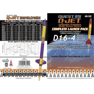 25-Pack D16-4 Q-Jet Model Rocket Motors
