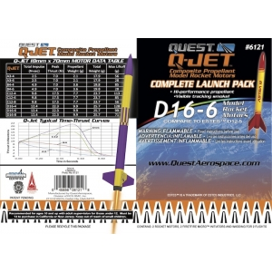 25-Pack D16-6 Q-Jet Model Rocket Motors
