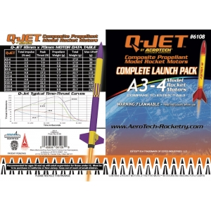 12-Pack A3-4 Q-Jet Model Rocket Motors