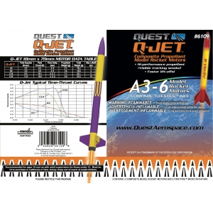 25-Pack A3-6 Q-Jet Model Rocket Motors