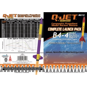 12-Pack B4-4 Q-Jet Model Rocket Motors