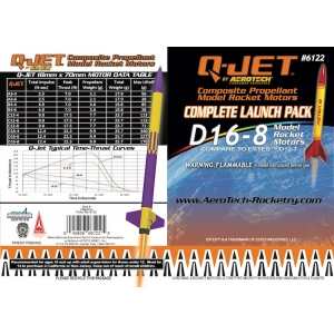 25-Pack D16-8 Q-Jet Model Rocket Motors
