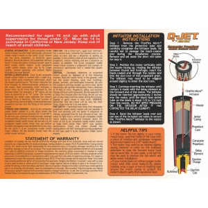 25-Pack A3-4 Q-Jet Model Rocket Motors