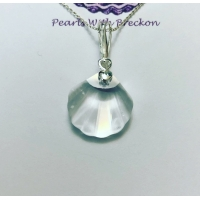 Clear Shell Crystal Pendant