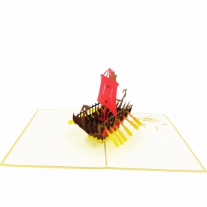 Viking Ship Pop Up Card..