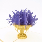 Flower Bouquet Pop Up Card-purple