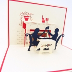 Romantic Dinner Pop Up Valentine's Day Card