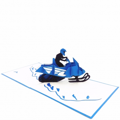Snowmobile Pop Up Birthday Card