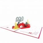 Asian Bridge Pop Up Card