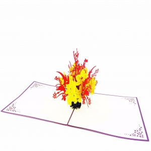 Flower Bouquet Pop Up Card-r..