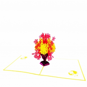 Flower Bouquet Pop Up Card P..