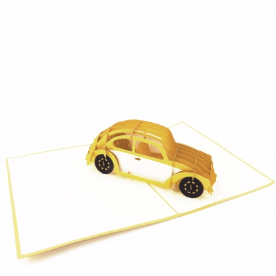 Golden Car Farewell Card
