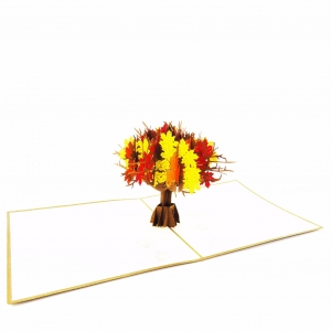 Maple Tree Pop Up Autumn Card