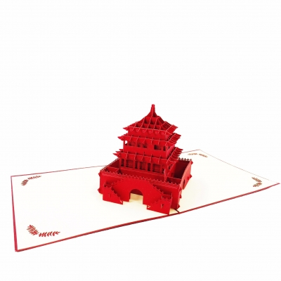 Asian Pagoda Pop Up Card