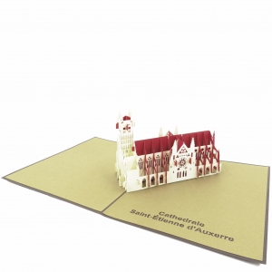 French Building Pop Up Card-..