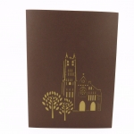 French Building Pop Up Card Brown