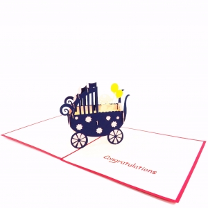 New Baby Pop Up Card-Girl St..