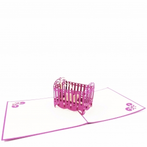 Baby Crib Pop Up Card-G..
