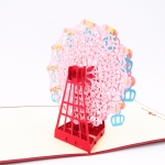 Ferris Wheel Pop Up Card Pink