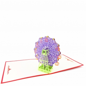 Ferris Wheel Pop Up Card-pur..