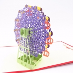 Ferris Wheel Pop Up Card-purple