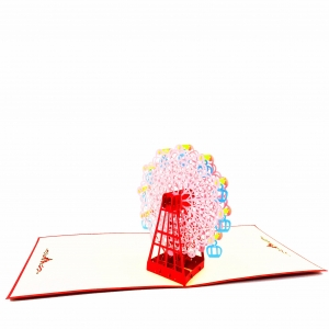 Ferris Wheel Pop Up Card-pink