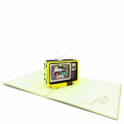 Retro TV Pop Up Card