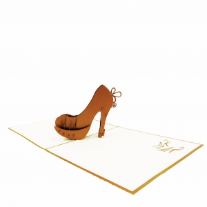 High Heel Pop Up Birthday Card