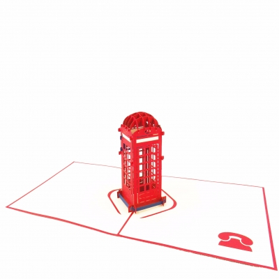 Telephone Booth Pop Up Birthday Card