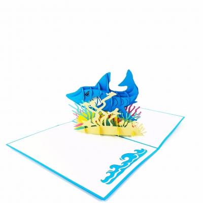 Shark Pop Up Birthday Card