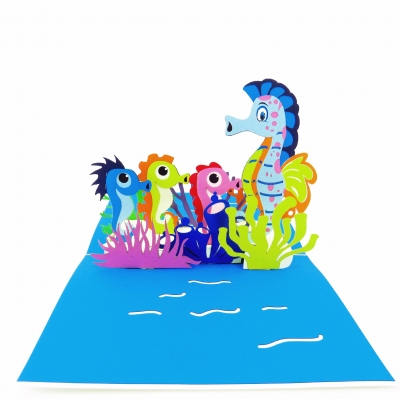 Seahorses Pop Up Mother's Day Card