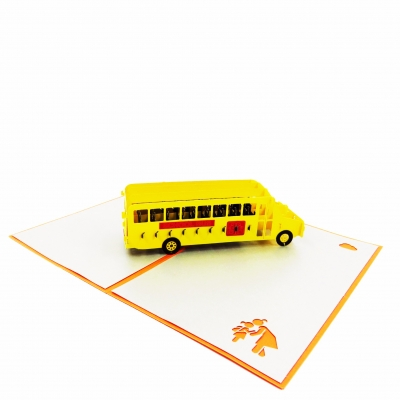 School Bus Pop Up Card