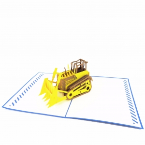 Bulldozer Pop Up Card