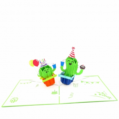 Cactus Party Birthday Pop Up Card