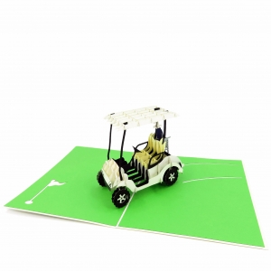 Golf Cart Pop Up Card 2