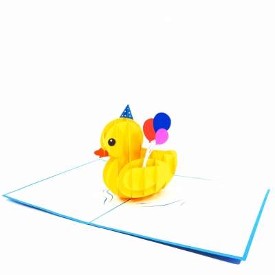 Boy Rubber Duck Pop Up Birthday Card