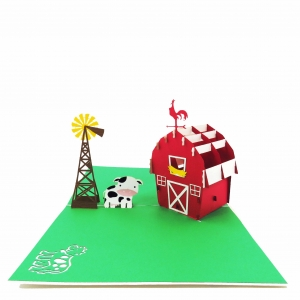 Farmhouse Pop Up Card