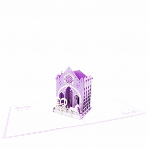 Church Wedding Pop Up Card