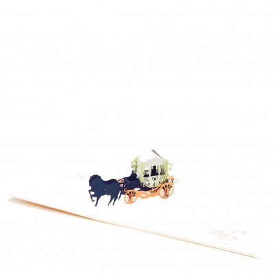Horse Carriage Wedding Greeting Card