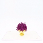 Flower Bouquet Pop Up Card reddish purple