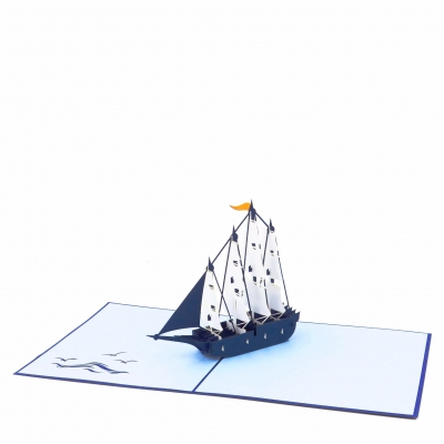 Ship Pop Up Card-style2