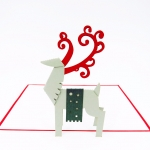 Christmas Reindeer Pop Up Christmas Card