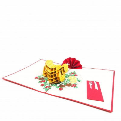 Christmas Dinner Pop Up Christmas Card
