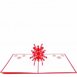 Red SnowFlake Pop Up Card
