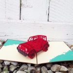 Jeep Pop Up Card-red